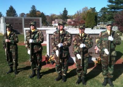vet 21 honor salute guard